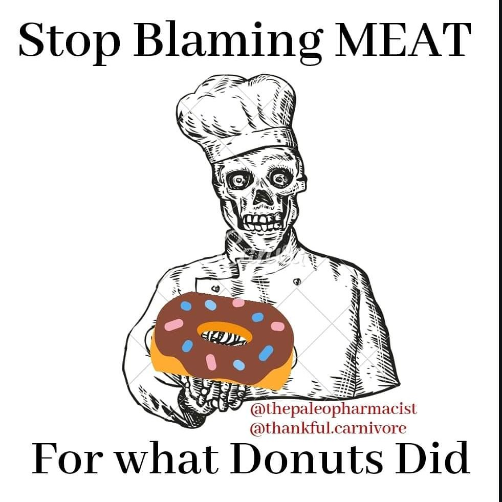 Happy National 💊💉 Diabetes & Obesity Day!  I mean, National 🍩 Donut Day  The only safe part of the donut is the hole in the middle. Or better yet, just eat 🥩  #NationalDoughnutDay #carnivorediet #Carnivore #MeatHeals #NationalDonutDay