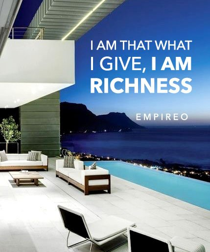 """I am that what I give, I am #RICHNESS  """"QUANTUM LEAP TO MILLIONAIRE""""💰💎 ▶️ I want to know more about the program https://empireoquantumleap.com/  #MILLIONAIREMINDSET #LUXURYLIFE #10x_MONEYRESULTS #QUANTUMLEAPTOMILLIONAIRE"""