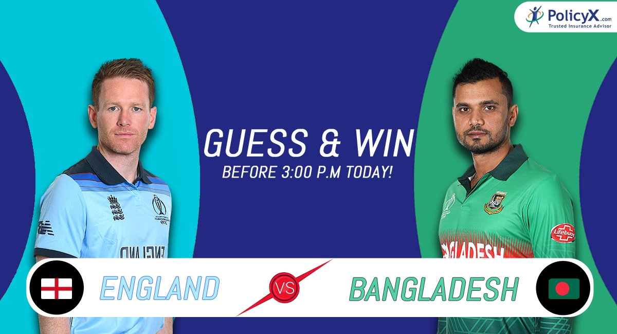 #Contest Round 12 #ENGvsBAN #ICCCricketWorldCup2019  Predict & Win Free Vouchers! Entries closes at 3.00 P.M #IamPxPaul #PolicyX #ContestAlert #contesttime #ContestAlertIndia #Giveaways #giveawaycontest