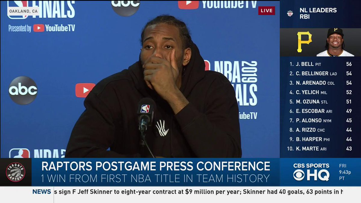 Kawhi Leonard's Response To Reporter's Question Went Viral Friday Night