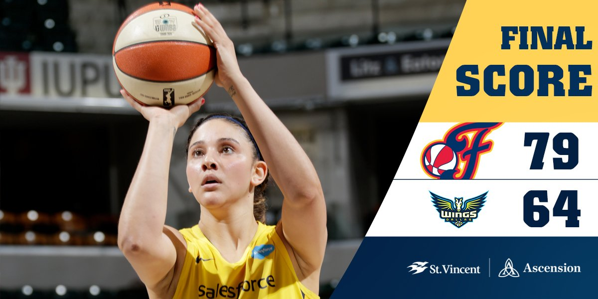 FINAL: #Fever 79, Wings 64  @NatAchon : 17 points and 11 rebounds Dupree: 14 points and 11 rebounds  #Fever20 #AllForLove
