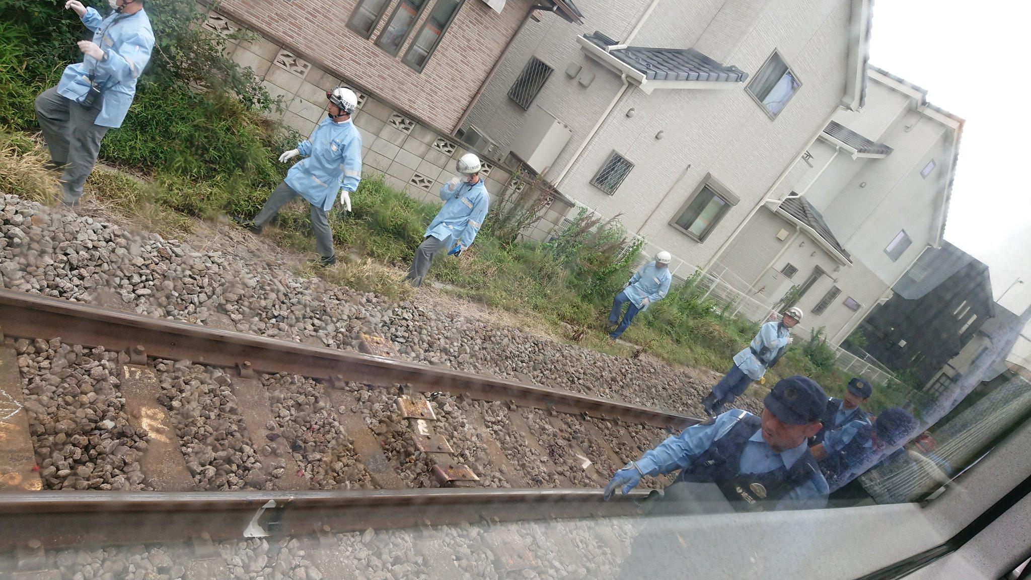 高崎線の桶川駅~北本駅間で人身事故が起きた現場画像