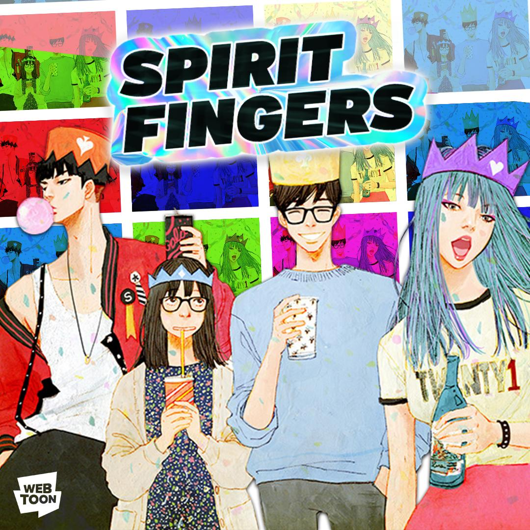 """WEBTOON on Twitter: """"NEW LAUNCH 🎨 SPIRIT FINGERS Introducing the Spirit  Fingers — the strangest, hippest, coolest (yet most welcoming) art club  ever.… https://t.co/XGza3LoMrl"""""""