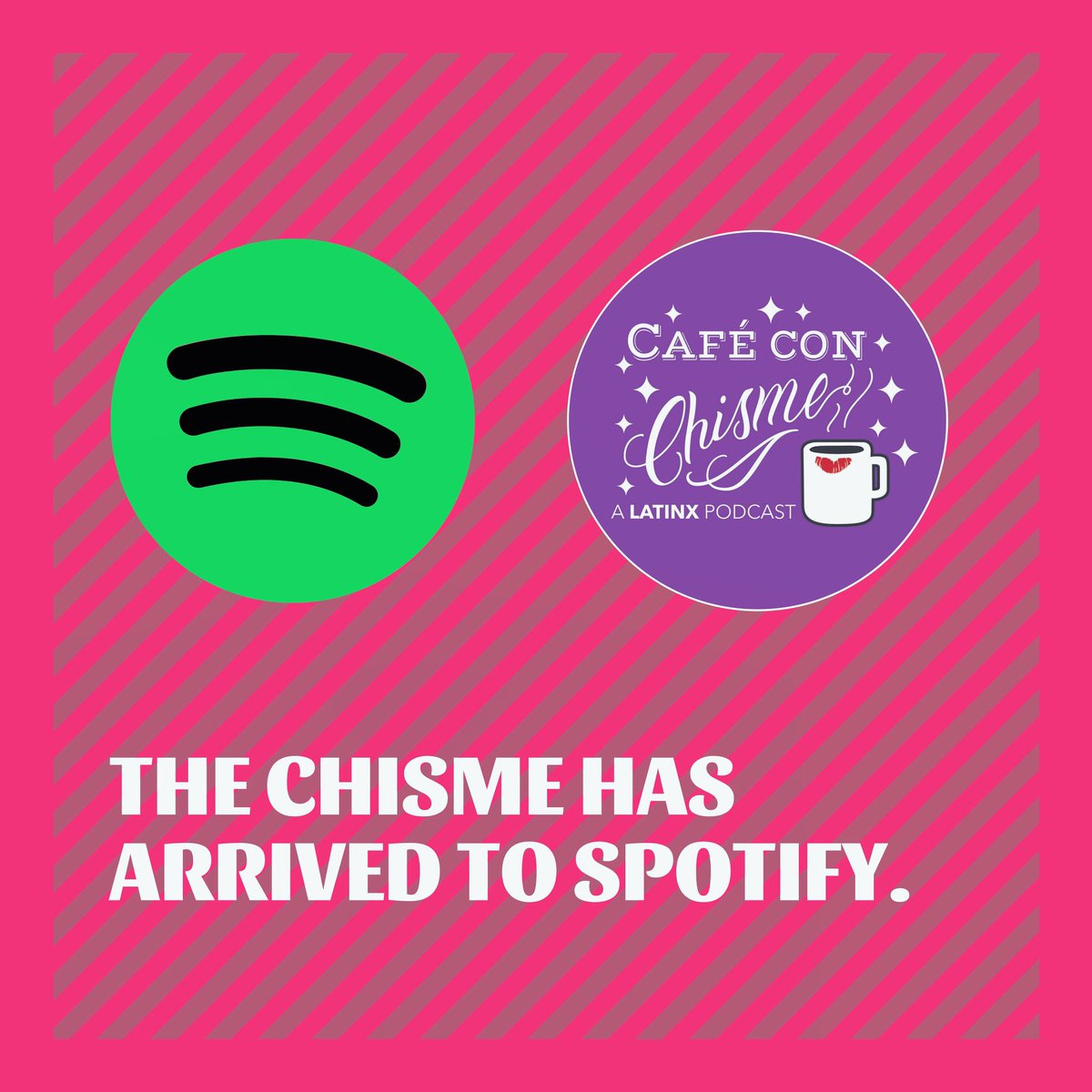 The chisme has arrived to Spotify 💜☕️✨