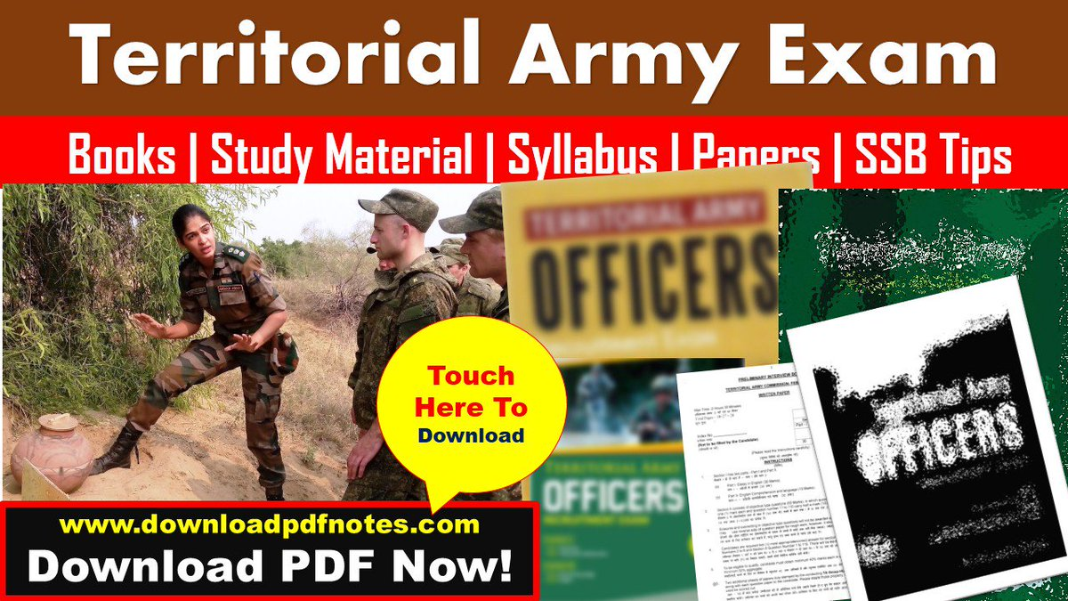 pdf] Territorial Army Officers New Study Material, Syllabus