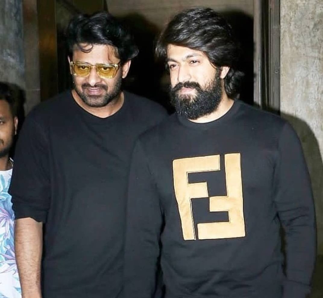 Next Generation Superstars... 2 Stars from South India to rule Indian Film Industry.. 🔥🔥🤘🤘  Waiting for #Saaho & #KGFChapter2🔥  #RebelStar #Prabhas #RockingStar #Yash @UV_Creations @hombalefilms @SKNonline @prashanth_neel @rameshlaus @sujeethsign #KGF #TFI #KFI #Tollywood