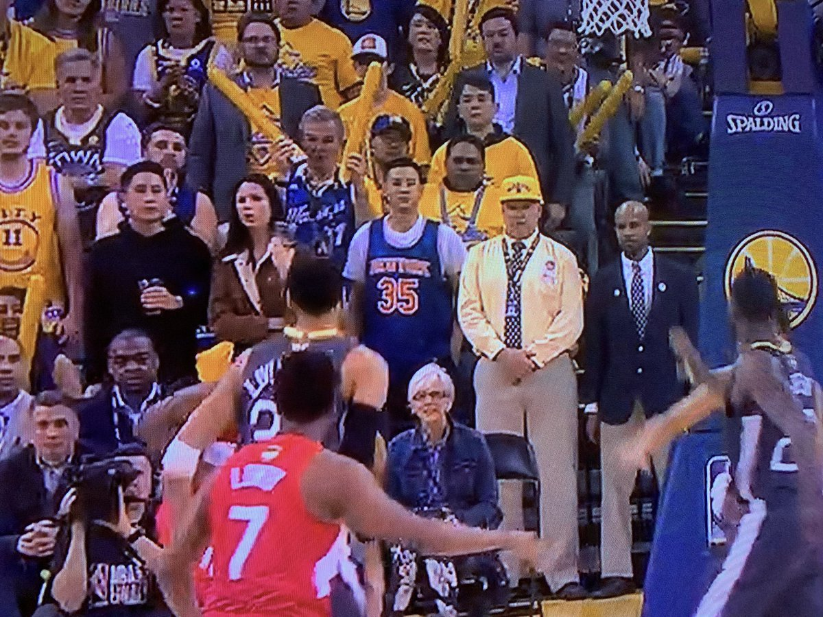 Photo Of Fan At Raptors-Warriors Game Went Viral Friday Night