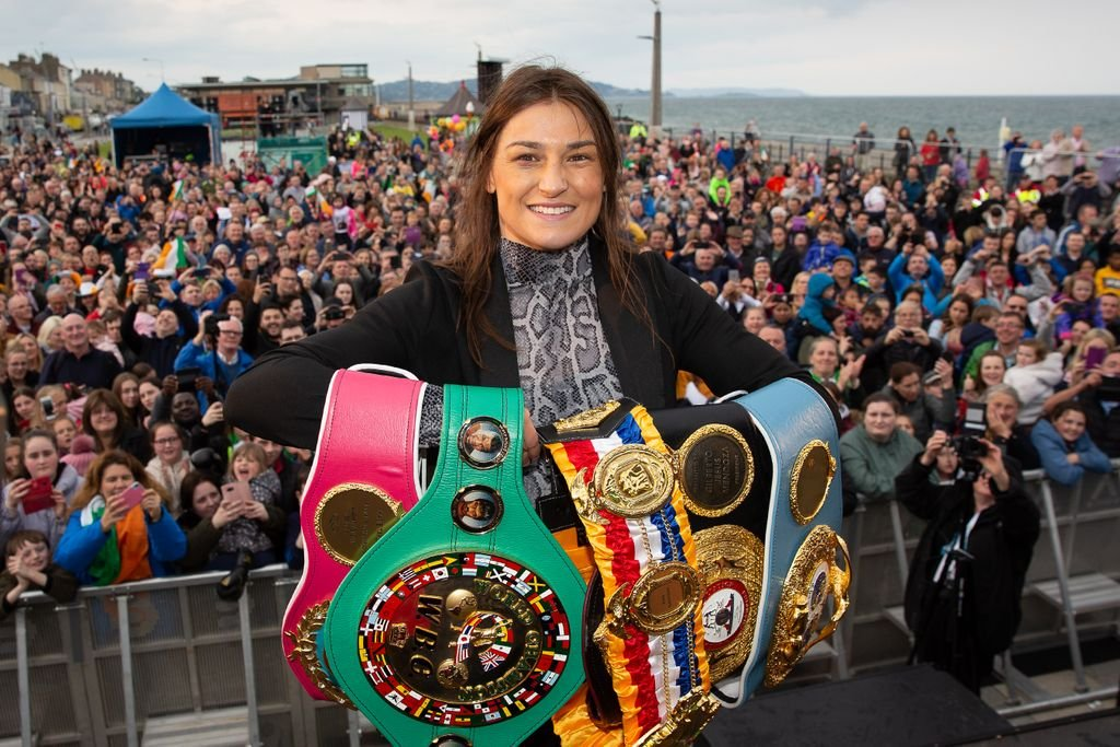 'Immensely proud': Bray welcomes Katie Taylor home after title unification in New York | https://t.co/oXhlsjUWNj https://t.co/1Pn9IahWK2