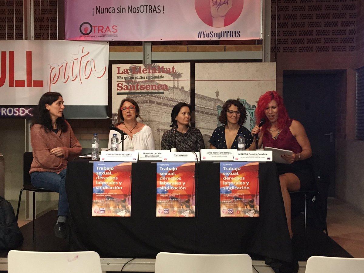 Comienza la Mesa Política de las jornadas de @Aprosex y @OtrasSindicato en Barcelona.