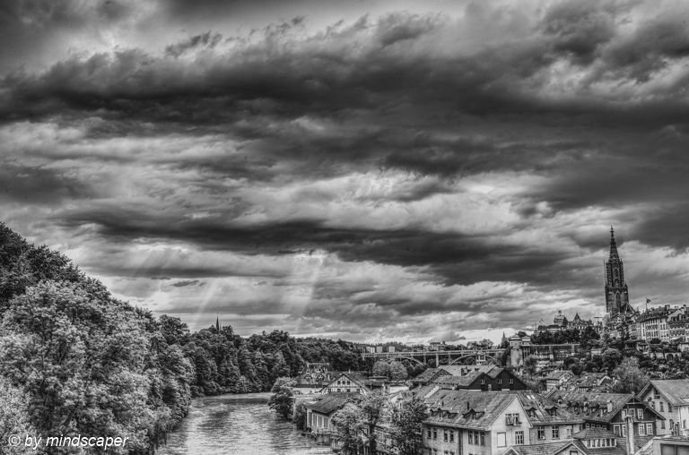 Cloud and Sun Play in Berne for Pentecost #sunplay #cloudplay #pfingstwetter #Pentecost #PentecostWeather  #aare #clouds #berne #bern #bnw_lover #bnw_captures #Everything_BNW  #bnw_international #blackandwhite #blackandwhitephotography #leicamonochrom #iloveswitzerland #ilovebern