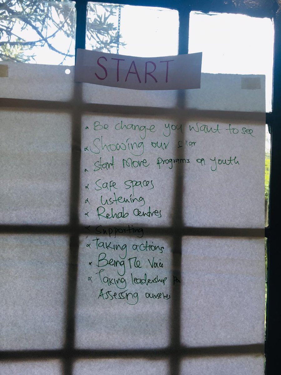 Here are the things we would like to stop, start and continue doing.