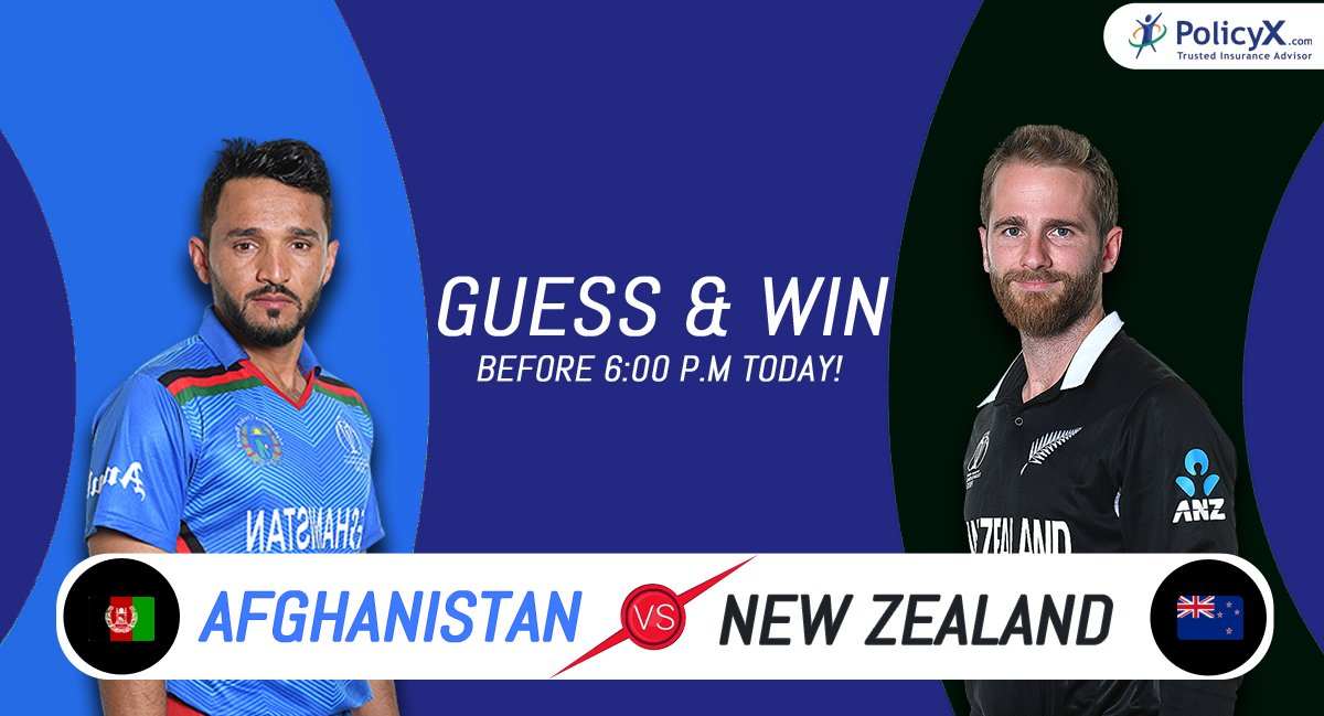 #Contest Round 13 #AfgvsNZ #ICCCricketWorldCup2019  Predict & Win Free Vouchers! Entries closes at 6.00 P.M #IamPxPaul #PolicyX #ContestAlert #contesttime #ContestAlertIndia #Giveaways #giveawaycontest