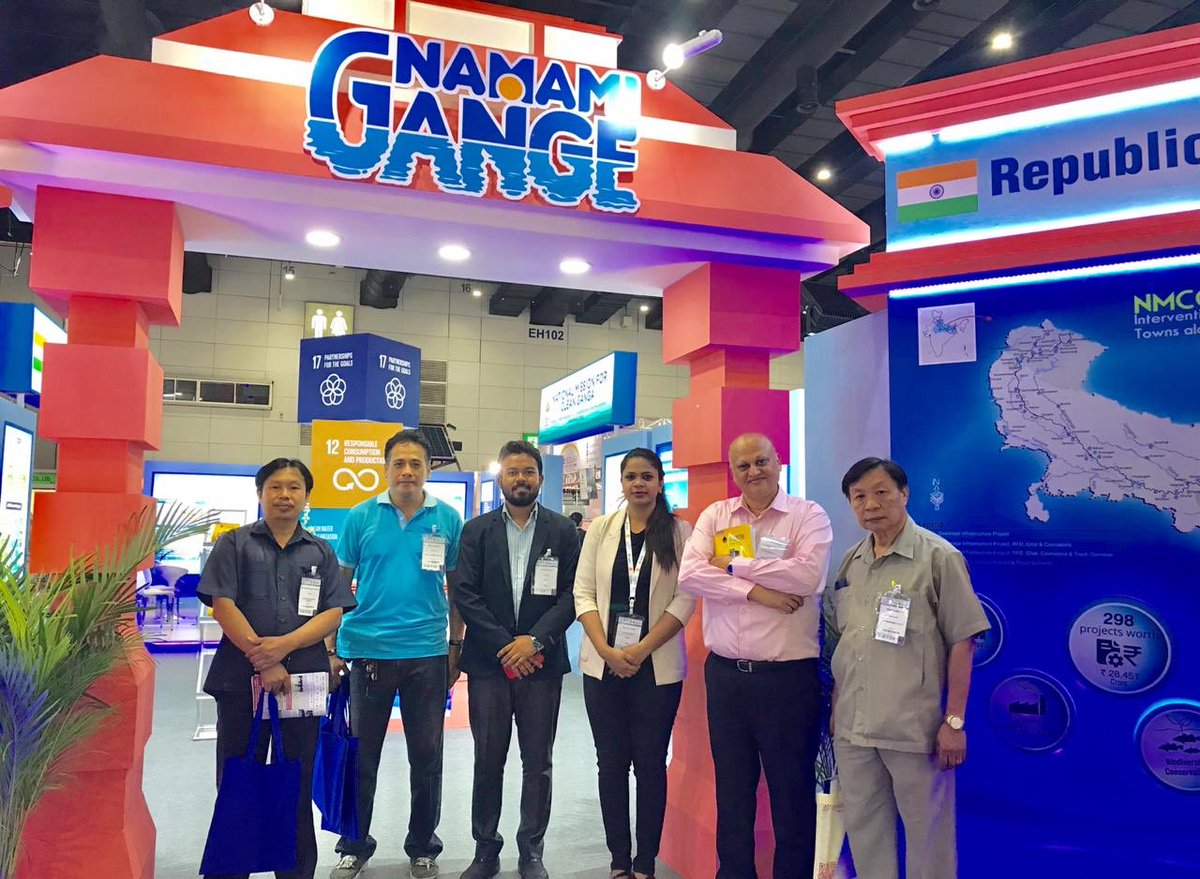 NMCG is making waves! Day 3 of the Thai Water Expo in Bangkok witnessed a heavy footfall of students and scholars alike. The initiatives being undertaken by NMCG were lauded and keen interest was expressed by many to get associated with the mission.  #NamamiGange #ThaiWaterExpo