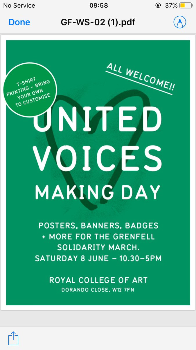 Making Day @RCA with @officialJ4G School of Communication in White City, in preparation for Grenfell Solidarity March, Friday 14 June ✊ #Grenfell #NorthKenLivesMatter https://t.co/pYmXXKZv7u