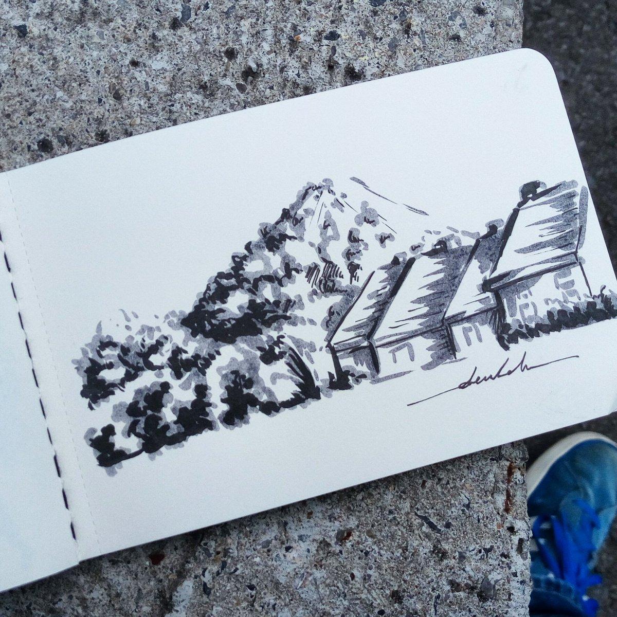 Landscape #dailyart #dailyillustration #trees #nature #slagheap #scenery #landscape #houses https://t.co/dLgqOImRCT