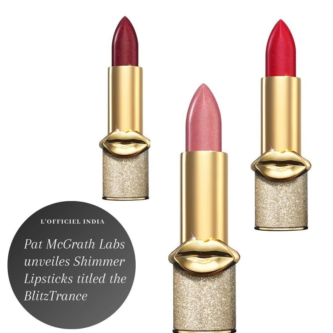@patmcgrathreal has unveiled a new lineup of lipsticks titled the BlitzTrance collection.  #patmcgrath #patmcgrathlipsticks #lipsticks #shimmerlipsticks #highendlipsticks #lipstick #luxury #luxurylifestyle #luxurybrand #cosmetics #lofficiel #lofficielparis #lofficielindia