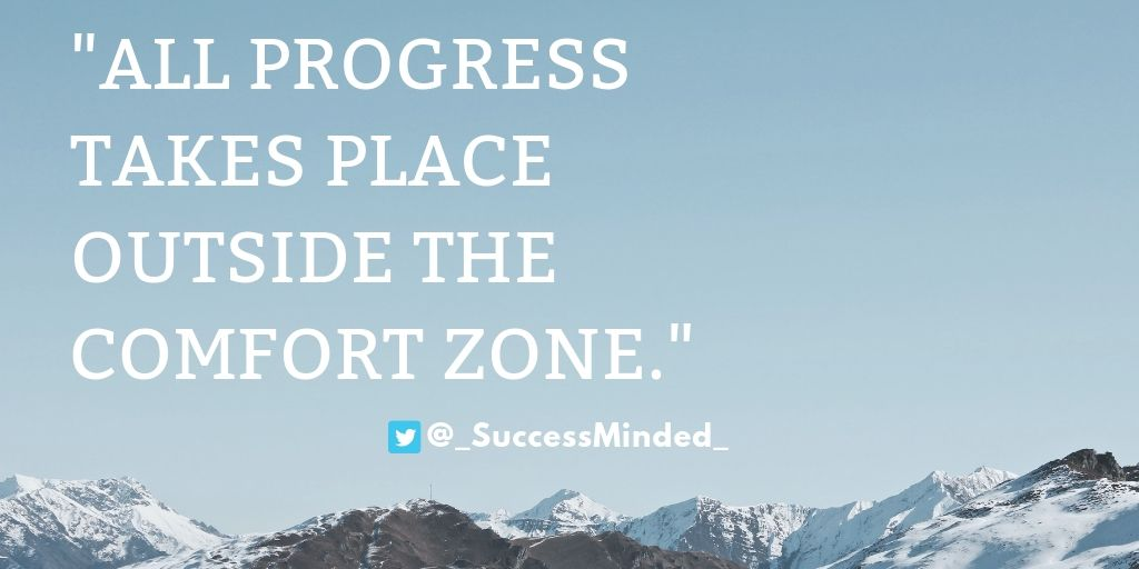 """All progress takes place outside the comfort zone.""  . . #SaturdayMotivation #SaturdayThoughts #ThoughtOfTheDay #quoteoftheday #Selfdevelopment #SelfImprovement #Motivation #MotivationalQuotes #inspirational #personaldevelopment #personalgrowth #success #successquotes<br>http://pic.twitter.com/MkpMFKbR6K"