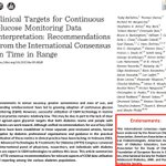 Image for the Tweet beginning: The International TIR Target consensus