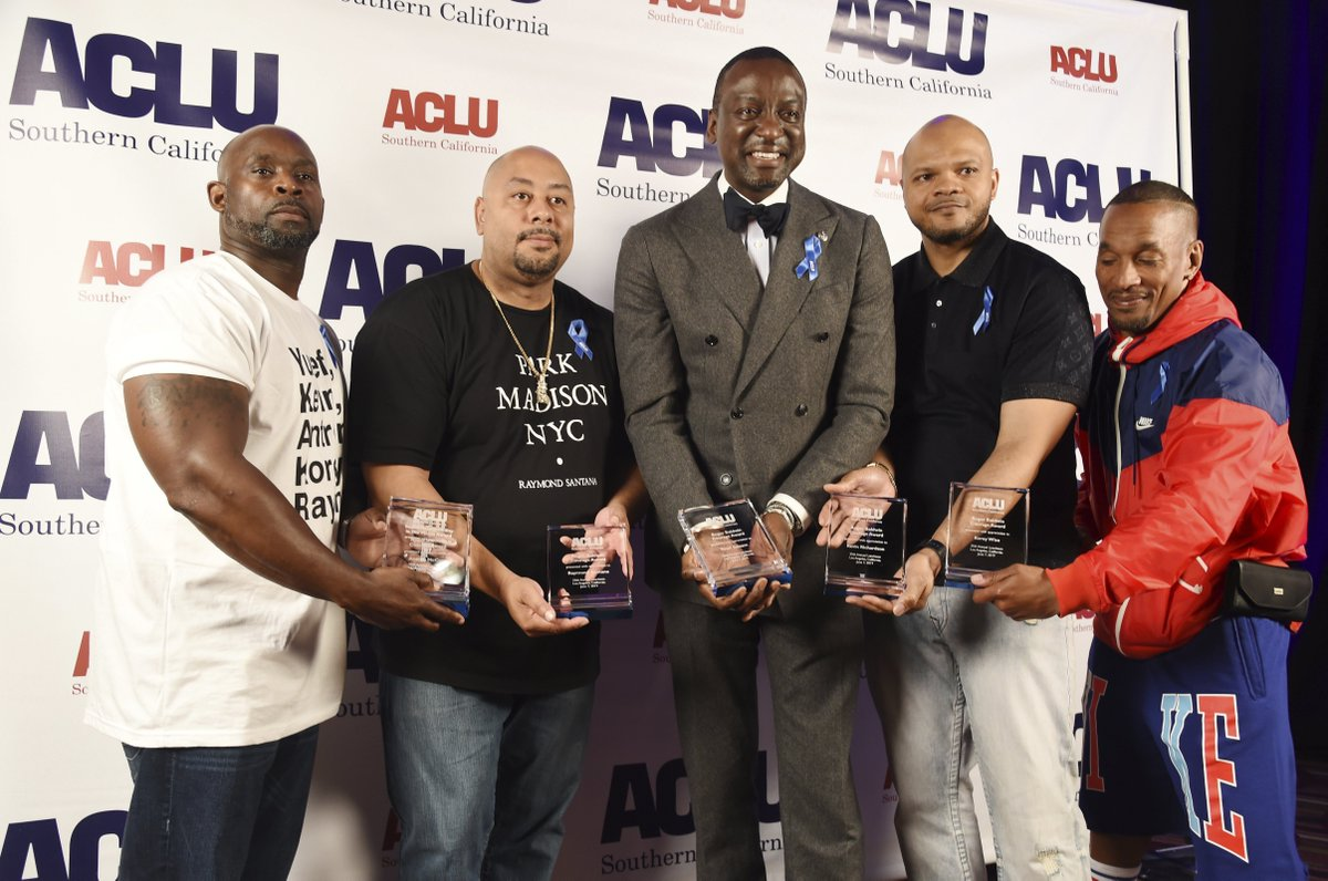 Central Park Five presented with Courage Award at @ACLU_SoCal luncheon at.vibe.com/nGHnRi