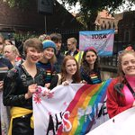 Image for the Tweet beginning: Supporting #YorkPride despite the rain!