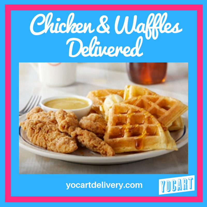 Brunch? Get IHOP's Chicken & Waffles delivered! #yocart #yocartdelivery #tuscaloosa #brunchdelivered
