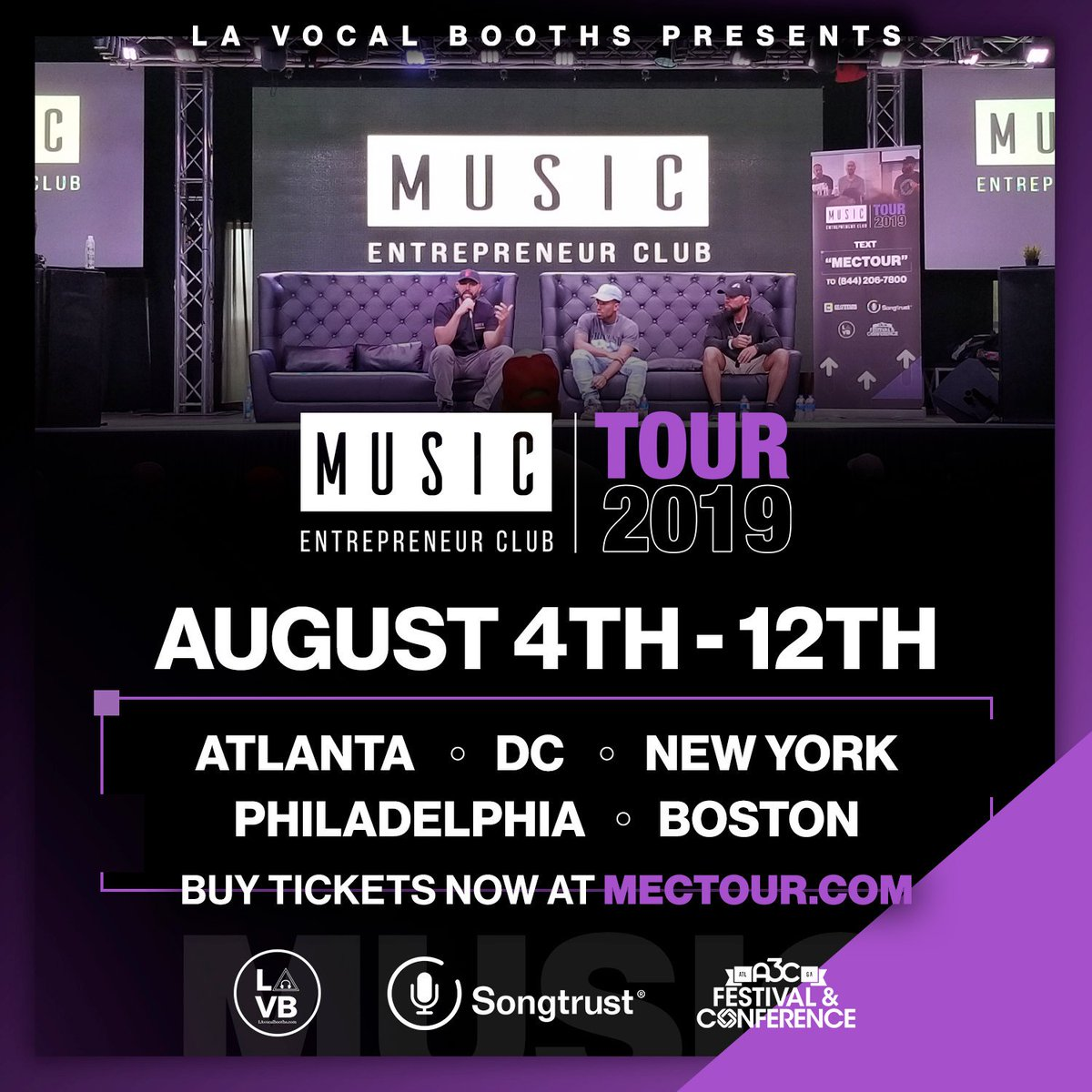 I'm coming with the squad to ATLANTA, DC, NY, PHILLY & BOSTON in August! 🙌  You can't afford NOT to come if you want to turn your passion into a career...  Ticket prices go up the longer you wait: http://www.mectour.com