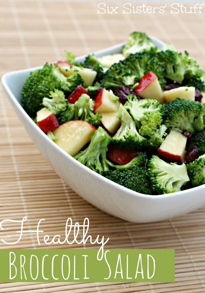 Six Sisters Stuff On Twitter This Healthy Broccoli Salad Has The Perfect Tangy Dressing Without Mayo It Will Become Your Go To Broccoli Salad Recipe From Now On Https T Co Uxtti51bm2 Sixsistersstuff Healthyside Broccolisalad Bestbroccolisalad