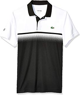 NWT Lacoste Men/'s Sports Short Sleeve Ultra Dry ColorBlock Polo Sizes XL-3XL