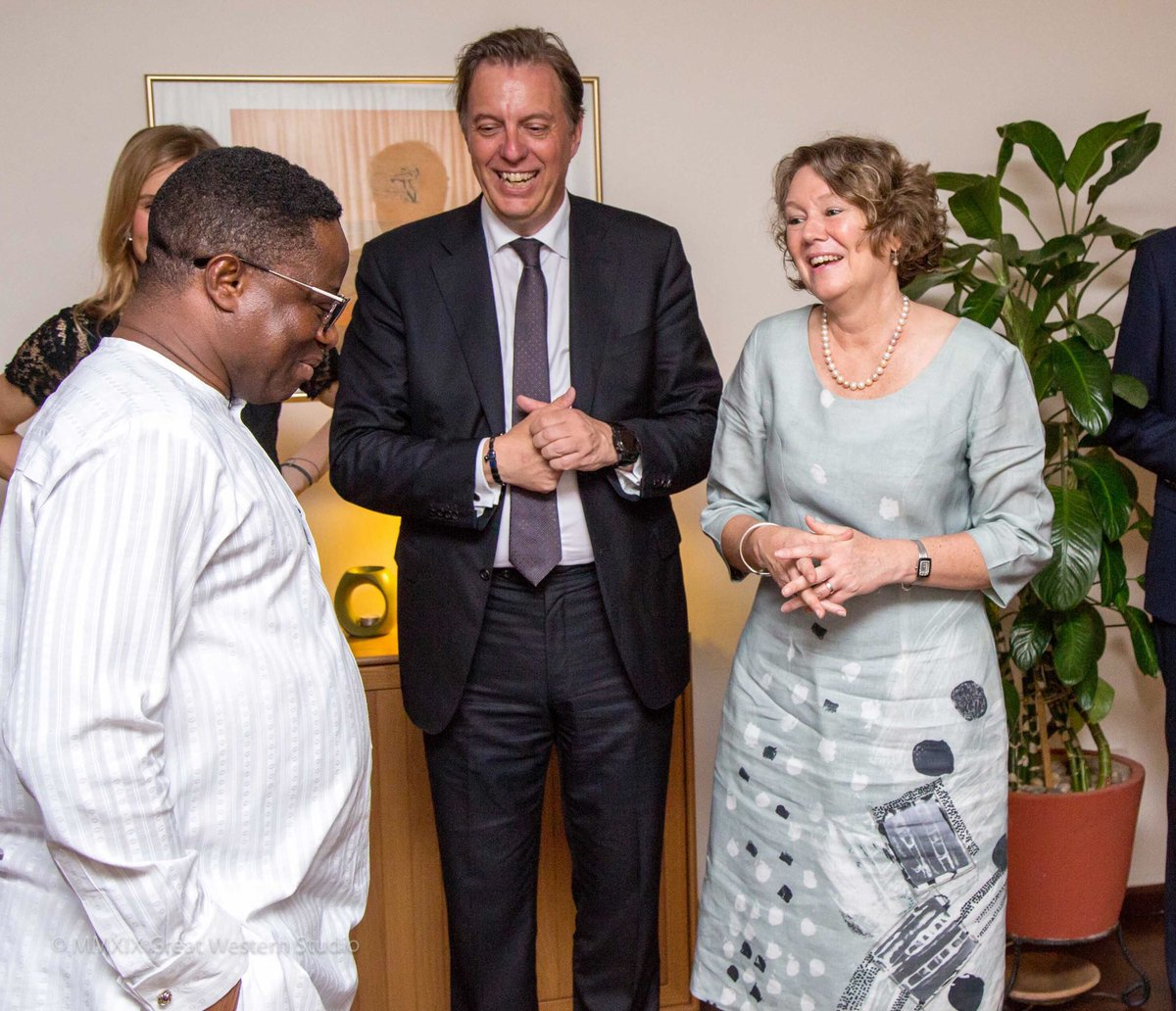 Enjoyable dinner in the residence with Maersk Drilling CEO Jorn Madsen and Minister for Energy Hon. John Peter Amewu. I may get a chance to visit a rig and I am so excited!