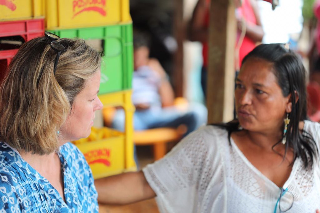 Mirtha and her family were forced to leave Cartagena years ago after being targeted by paramilitaries.  They sell water bottles and rent washing machines but still live in an informal settlement. Even as Venezuelans arrive, many like her continue to be displaced within Colombia.