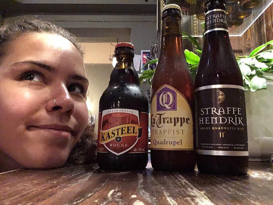 Homework time hayley! Have fun! We can't wait to find out what you've learnt #beerme #headofsteamhuddersfield #cameronsbrewery #beerschool #trappist #belgiumbeer #latrappequadrupel #kasteelrouge #straffehendrik