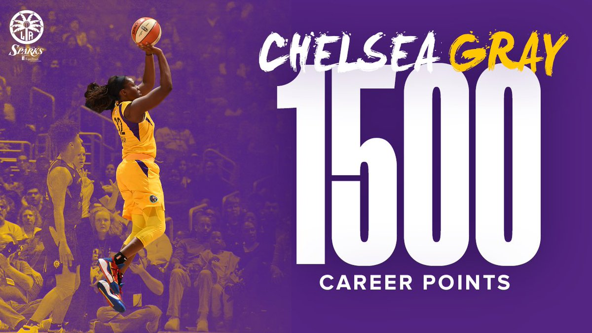 Congrats to @cgray209 on reaching 1,500 Career Points💪  #GoSparks #LeadTheCharge