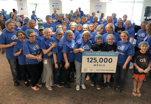 350 #CitiVolunteers in Meridian pkg 126,330 pasta meals during @Citis Global Community Day on 6/8 in partnership with @IamFCE. @IdahoFoodbank will distro the meals to help feed hungry families in Ada, Canyon & Gem Counties. #LifeAtCiti #CitiAmbassador