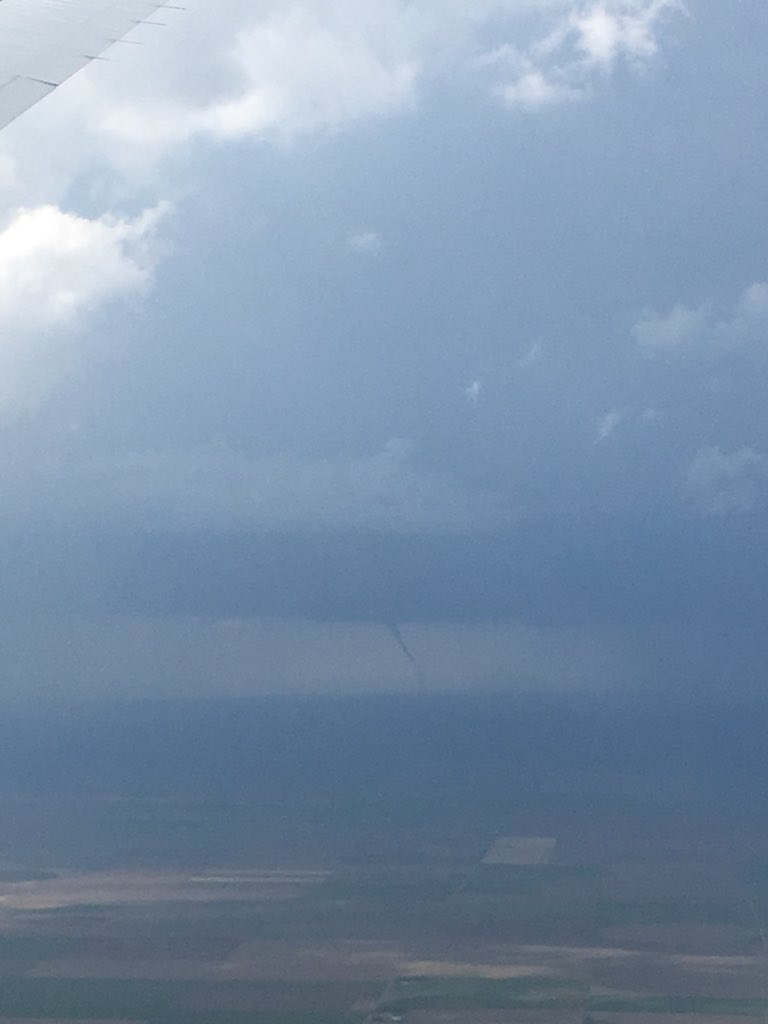 Landspout from the P3 perspective south of Goodland, KS #TORUS19