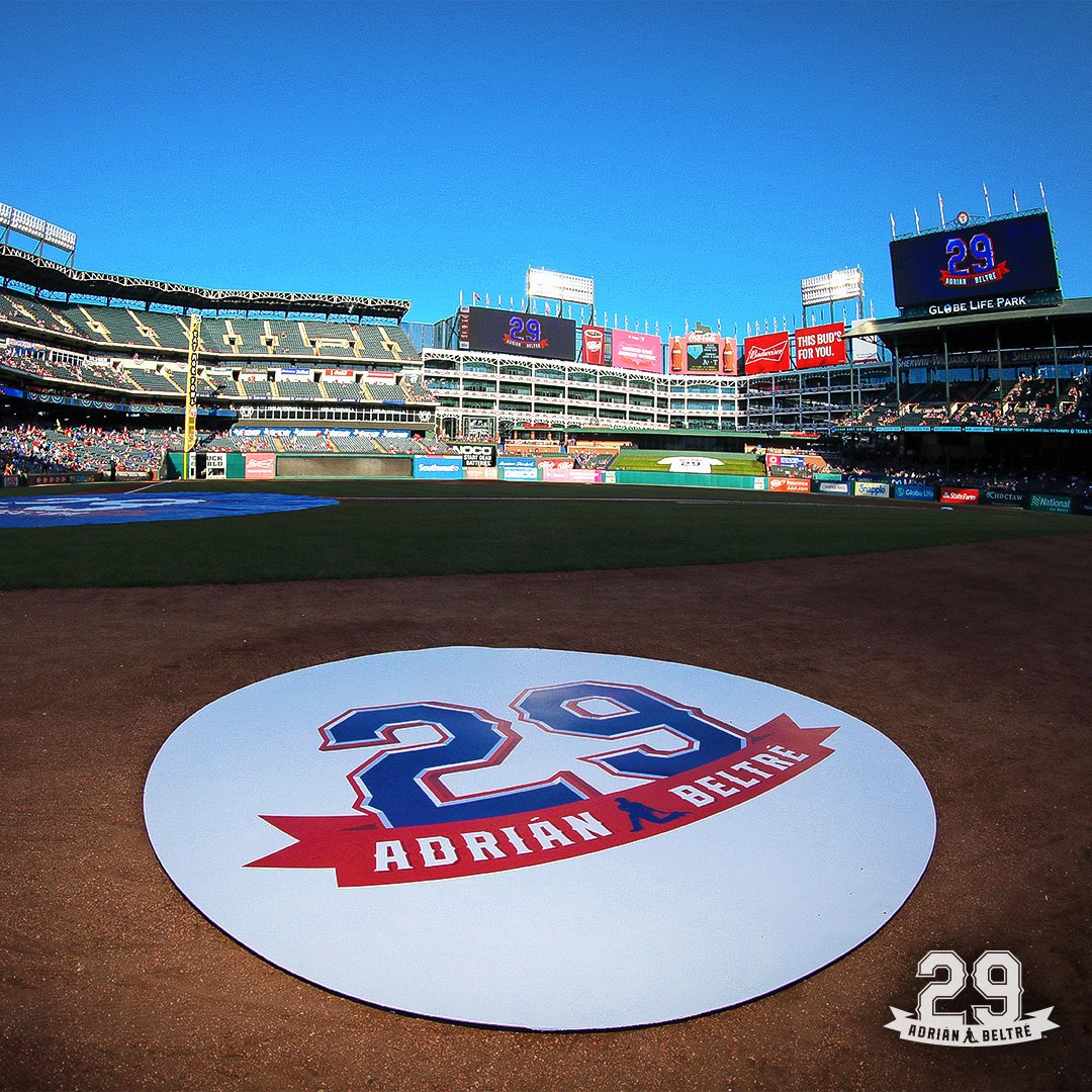 Beltre thankful to have his No. 29 retired