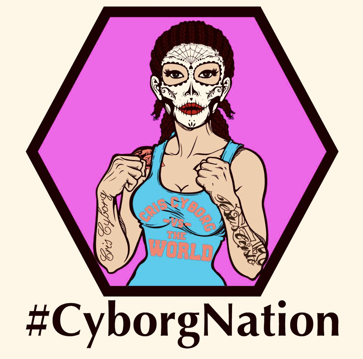 Random tweet of something I started working on of @criscyborg! Not finished with it yet just not sure what else I want to do to it yet! 😂 Thought I would share it as is for now! #CyborgNation #CrisCyborg