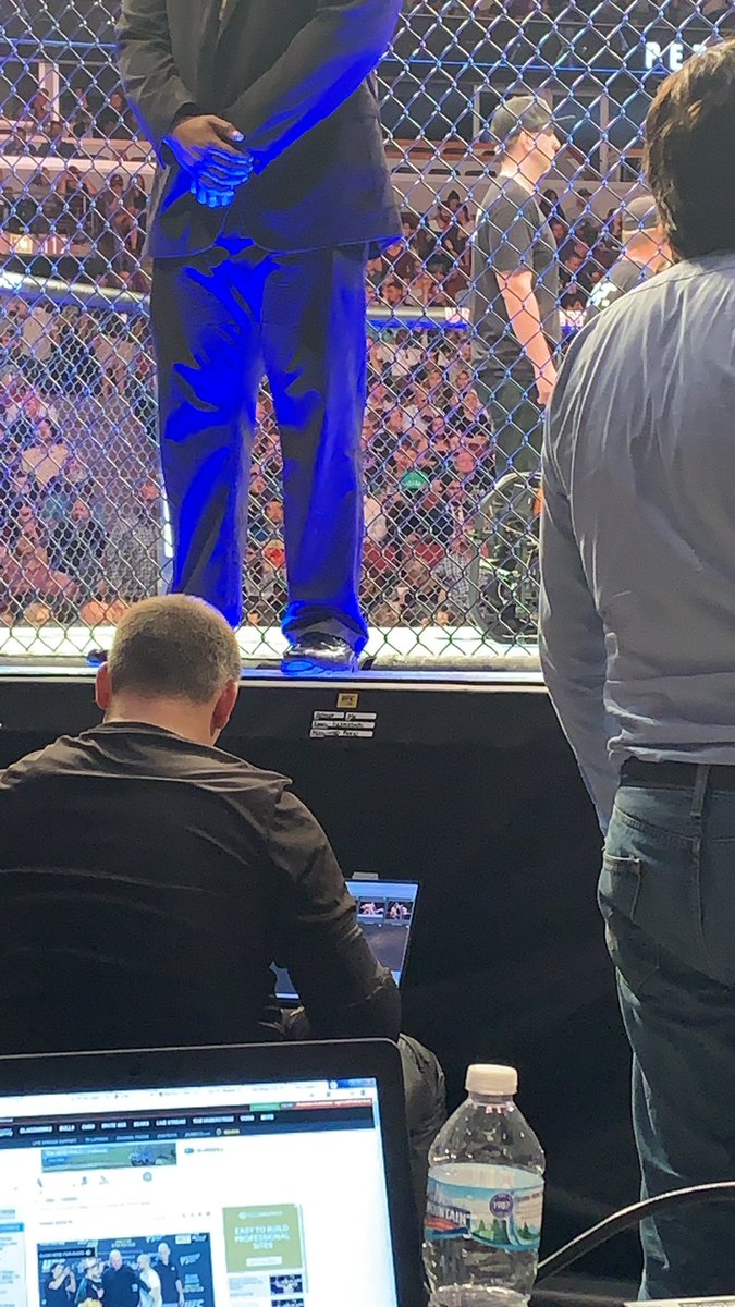 I swear I saw @CMPunk on the other side of this octagon. Clearly, he's ducking me. #UFC236