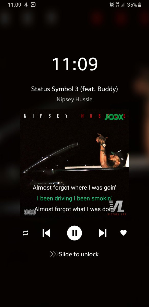 This shits jus keep slappin, harder and harder through each listen... #VictoryLap #RIPNIPSEYHUSSLE  <br>http://pic.twitter.com/9wbE6g49E6