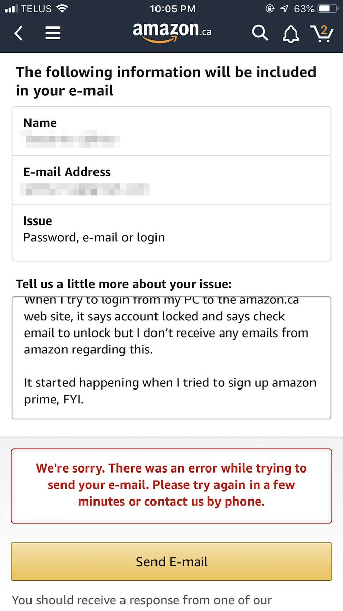 "A thread written by @ujm: ""I'm angry against http://amazon.ca. It says my  account is locked only on my PC. The contact form requires me to [...]"""
