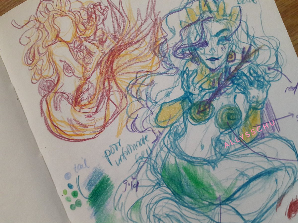mermay concepts, grandmas, and a failed (yet almost rendered) piece #sketchbook #artph<br>http://pic.twitter.com/LWzmVCZgtg