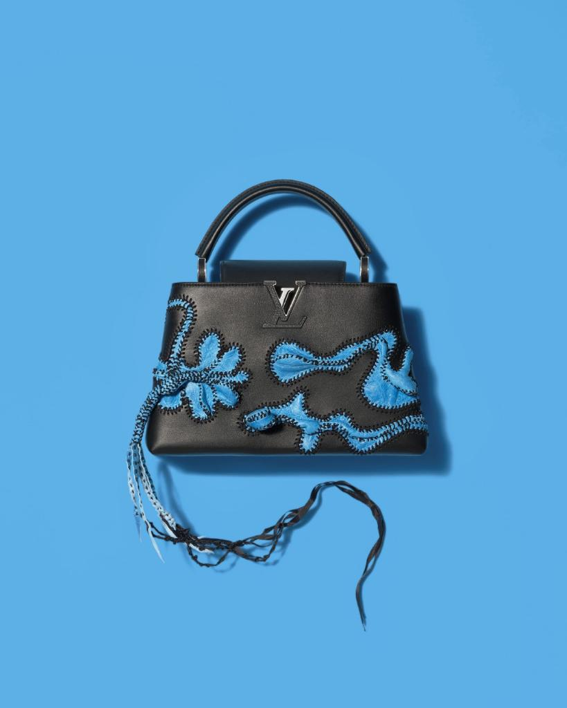 bc7b88f57e967  NicholasHlobo transformed the Monogram flower in his contribution to the   LouisVuitton Artycapucines Collection. Explore the limited-edition  collaboration ...