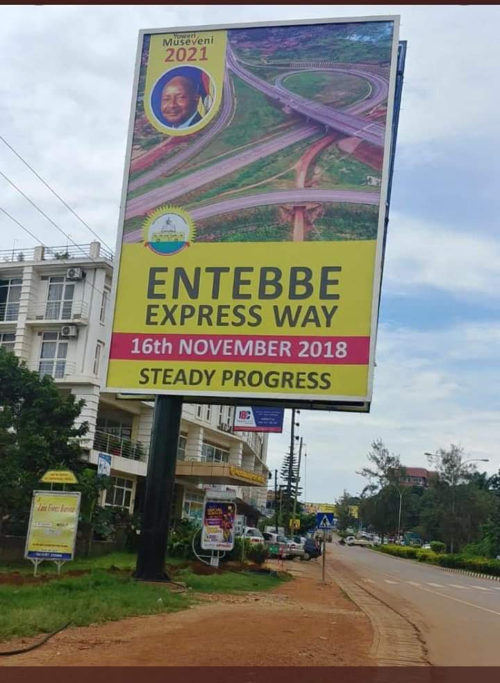 """The Electoral Commission recently said there shouldn't be any campaigns bse it's not campaign time yet. If the EC is as non partisan as it claims,I challenge them to call President M7 to order. But wait,they'll say """"Museveni 2021"""" isn't campaigning, it's just voter sensitization! <br>http://pic.twitter.com/vZsRLG3hmK"""