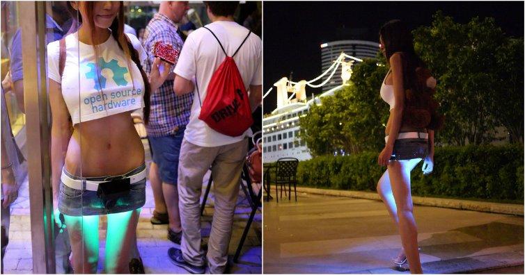 изобретательница мини юбки с подсветкой фото фотографироваться