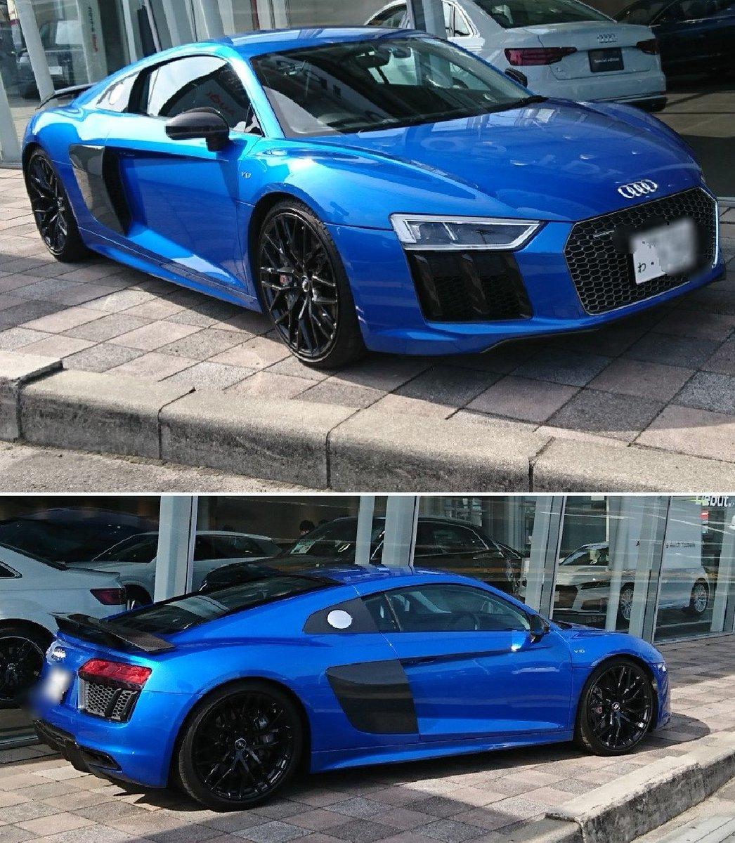 #珍!「#わナンバー」  #アウディR8  #スーパーカー #レンタカー?  #AudiR8  抜群の扱いやすさも備える #スーパースポーツ #ドライバー のどんな要求にも応える❤️ #Audi #R8 の5.2ℓ  #V10エンジン  Audiは史上最強となる610PS 高性能を発揮 #最高速 は330km/h  https://www.audi.co.jp/jp/web/ja/models/r8/r8.html…
