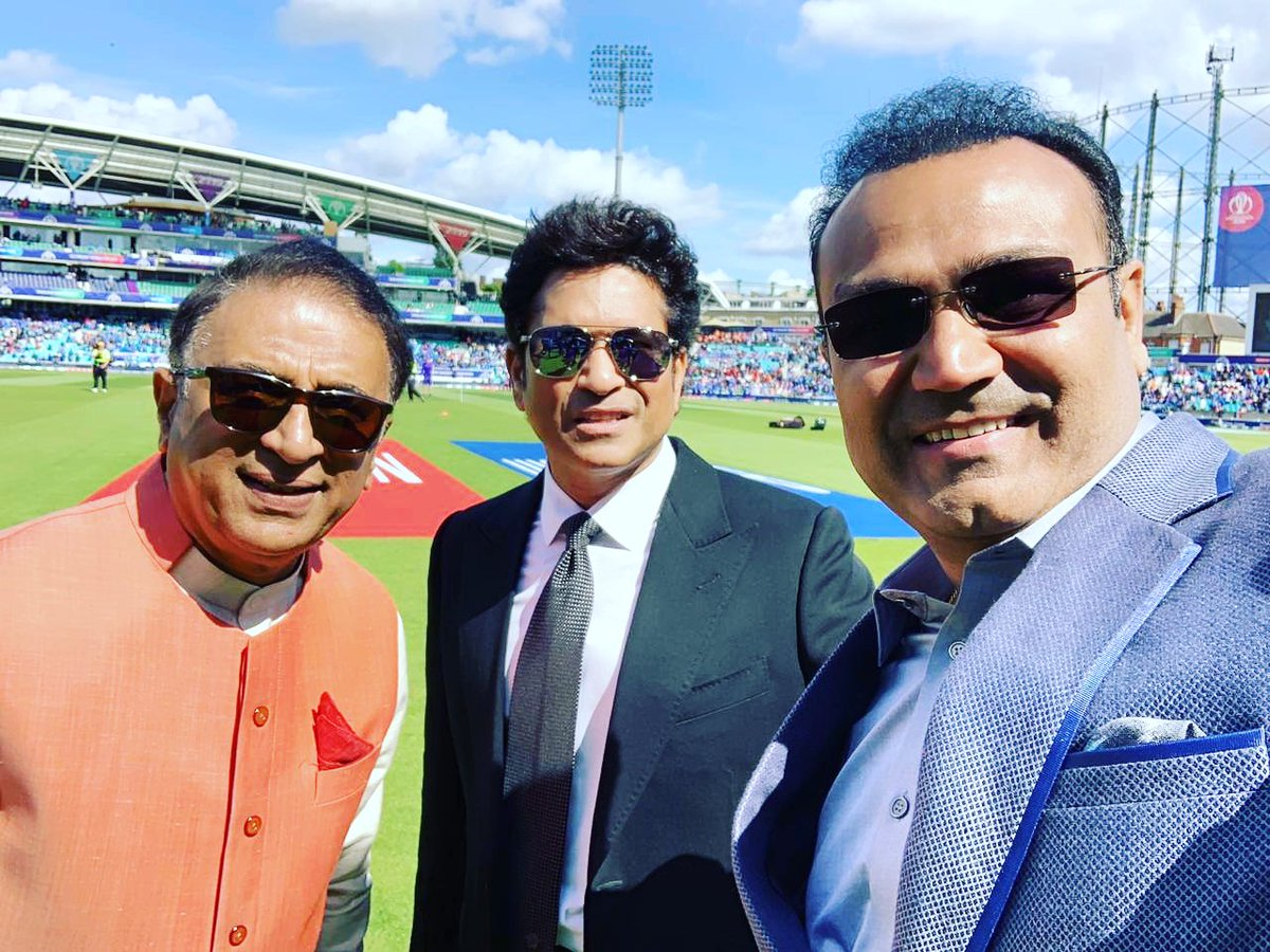 With my Batting Hero and my Batting Partner🏏