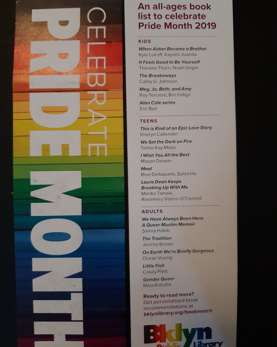 I didn't know that it was my life's goal to be on a public library's Pride Month bookmark, but of course it was.