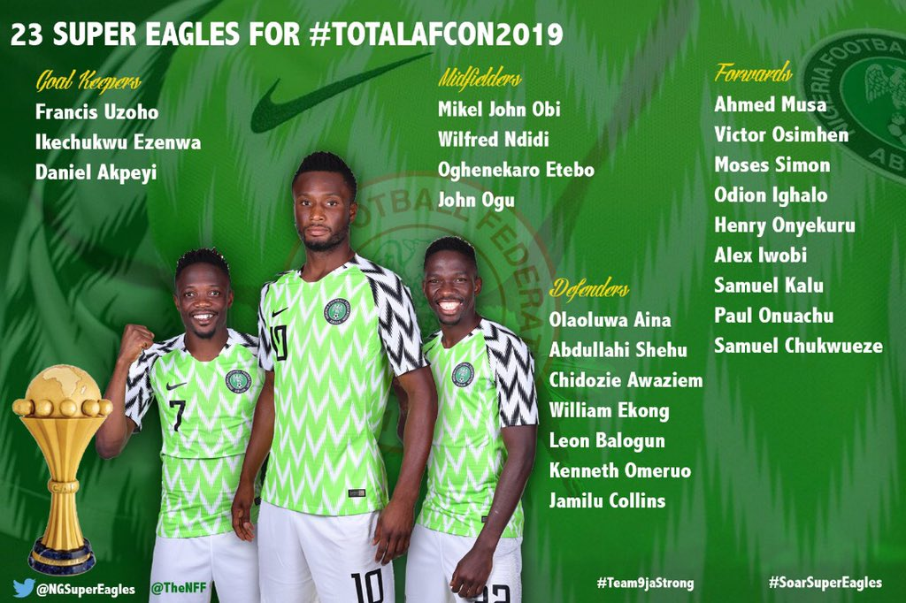 Liste Nigéria