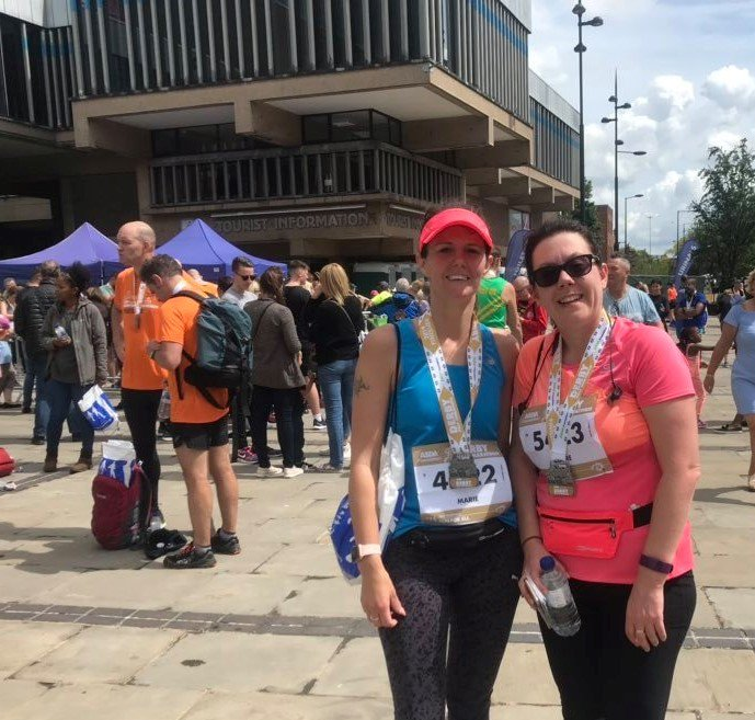 Well done ladies on completing the @Ramathonhalf today! THANK YOU for running for @AnnabelsAngels 👏🏃♀️🏅