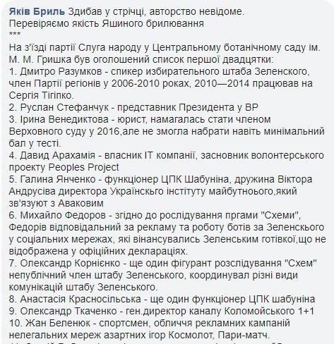 """Представлено першу сотню партії """"Слуга народу"""" - Цензор.НЕТ 4279"""