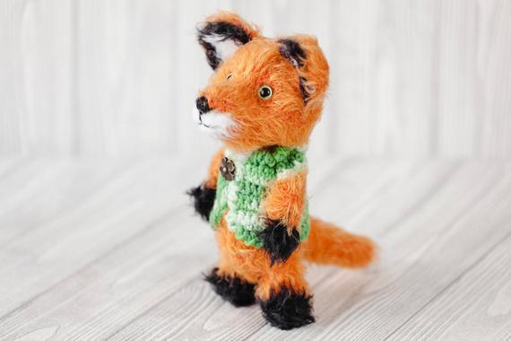 Fox Stuffed Animal, Fox Crochet Amigurumi, Handmade Toy, Cute ... | 380x570
